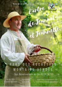 L'arbre de Jeannot et Jeannette-visite théâtralisée du Parc des Rochettes de Montaigu Vendée