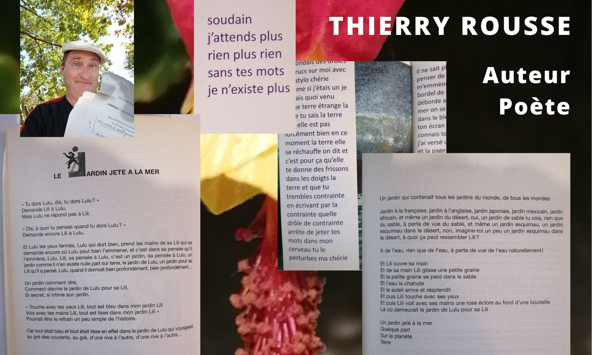 Thierry Rousse, Auteur, Poète